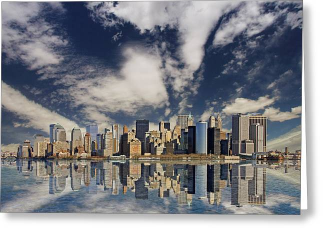 New York Greeting Card by Marcel Schauer