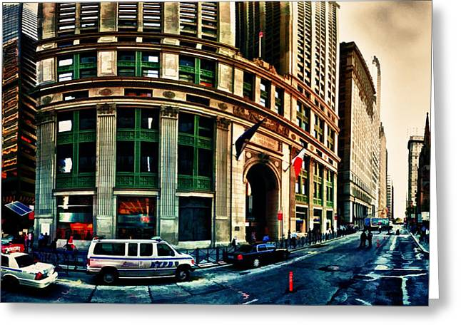 New York Nypd Greeting Card by Radu Aldea