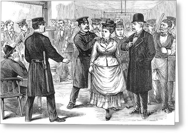 New York Police Raid, 1875 Greeting Card by Granger