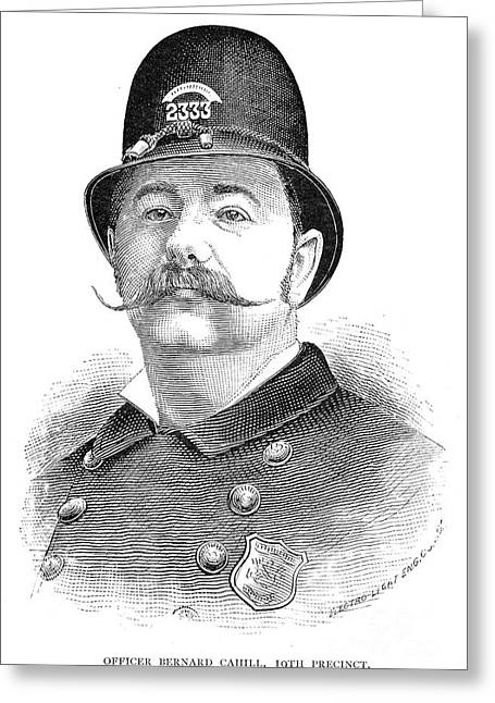 New York Policeman, 1885 Greeting Card by Granger