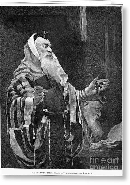 New York Rabbi, 1890 Greeting Card by Granger