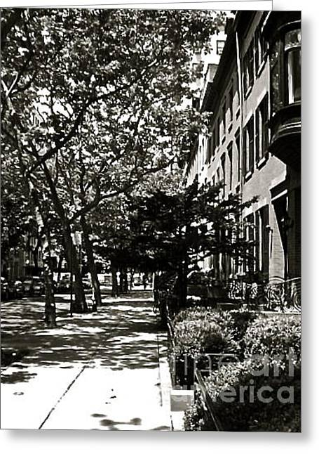 Greeting Card featuring the photograph New York Sidewalk by Eric Tressler