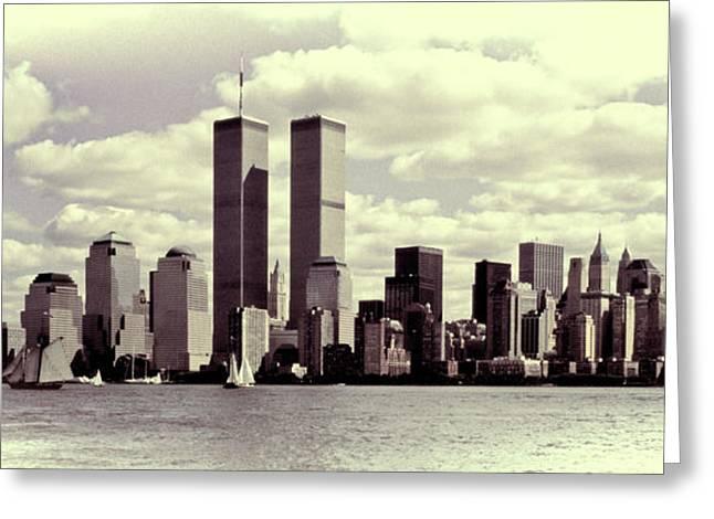 New York Skyline Greeting Card by Gerry Walden
