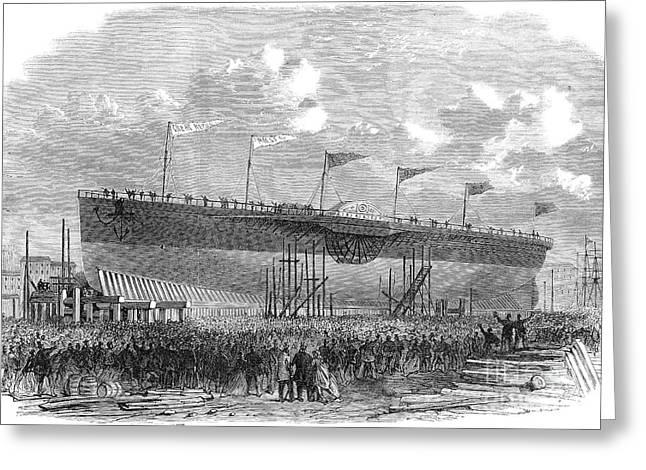 New York: Steamship, 1867 Greeting Card by Granger
