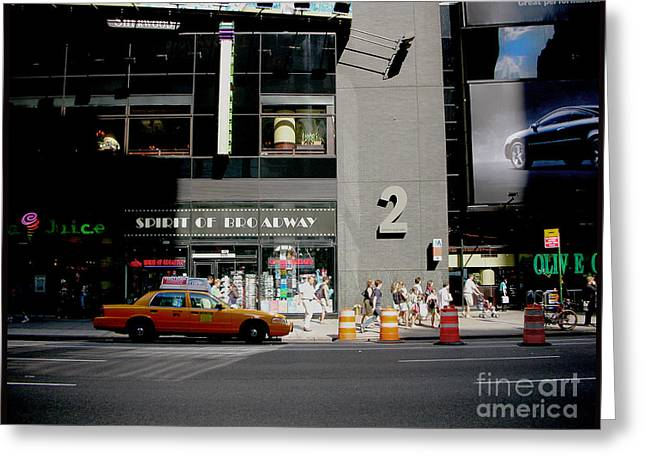 New York Street Greeting Card by Alessandro Uggeri