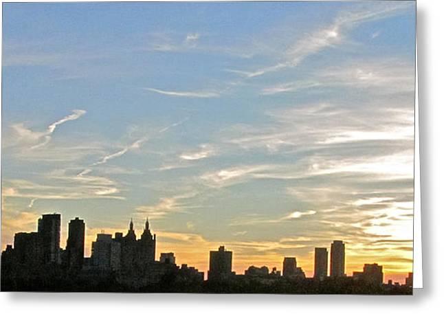 New York Sunset 2 Greeting Card by Randi Shenkman