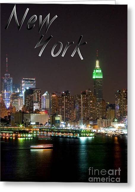New York Greeting Card by Syed Aqueel