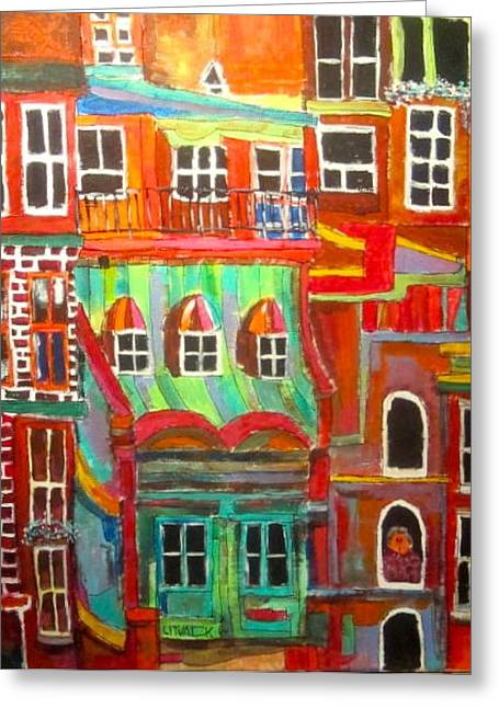 New York Tenement 2 Greeting Card by Michael Litvack