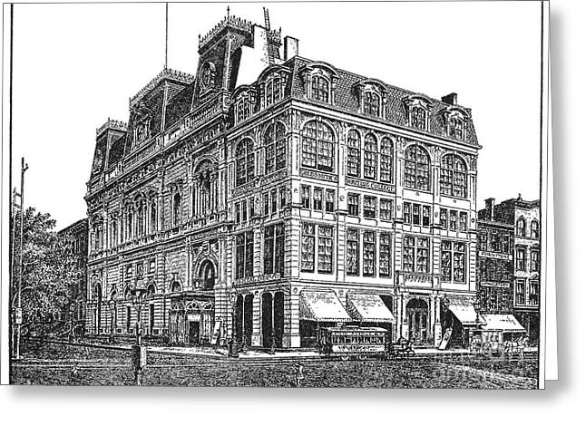 New York: Theater, 1869 Greeting Card by Granger