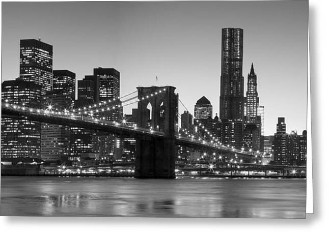 New York Twilight 2 Greeting Card by Andria Patino