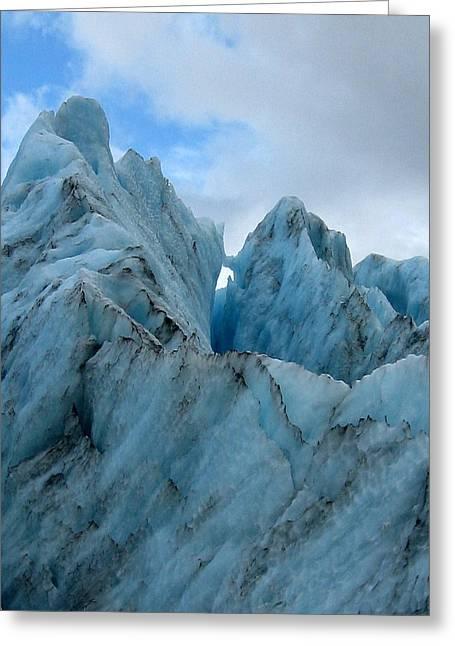 New Zealand Glacier Greeting Card by JoAnne Rauschkolb