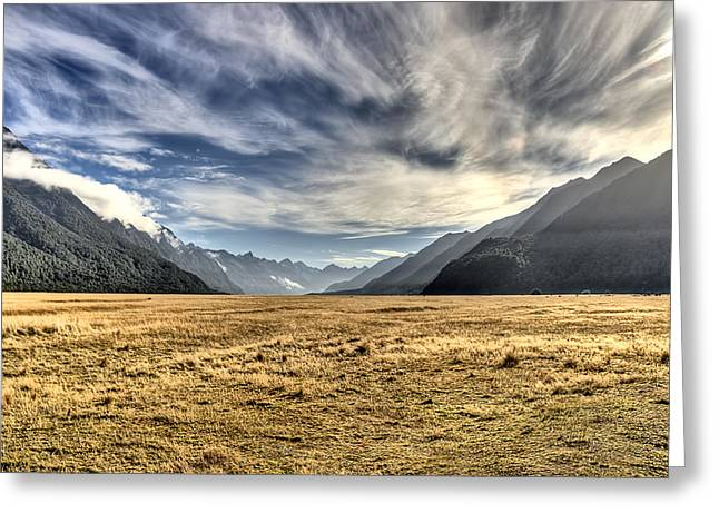 New Zealand Road Trip Greeting Card by Andreas Hartmann