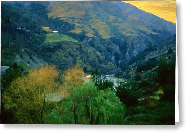 New Zealand Series - Arthur's Pass Greeting Card by Jim Pavelle