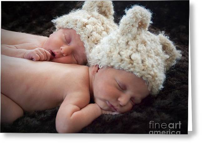 Newborn Twins Greeting Card