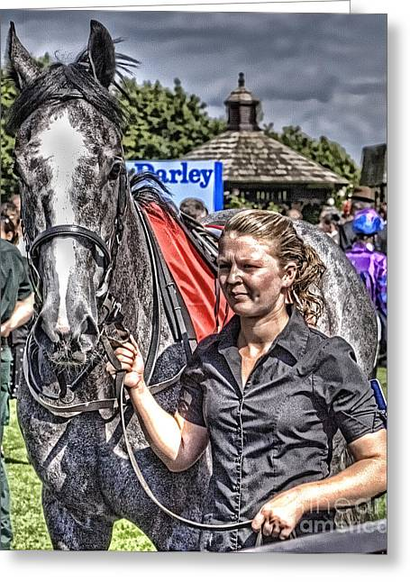 Greeting Card featuring the photograph Newmarket Races I by Jack Torcello