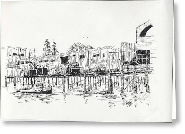 Newport Oregon Waterfront Greeting Card