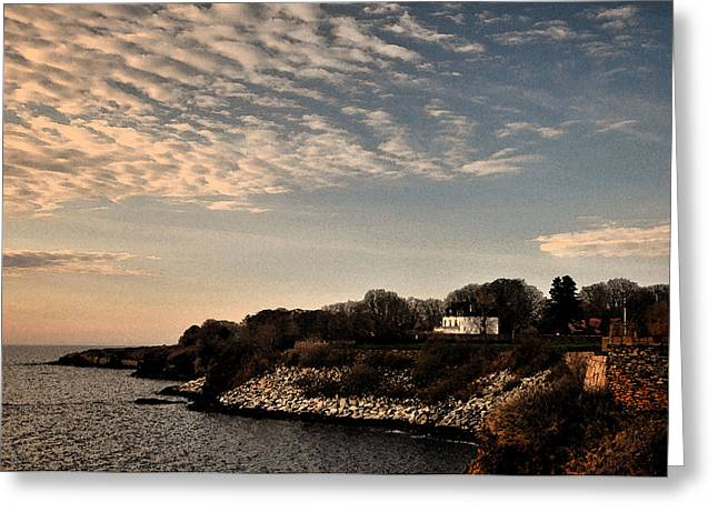 Greeting Card featuring the photograph Newport Vibrant Morning by Nancy De Flon