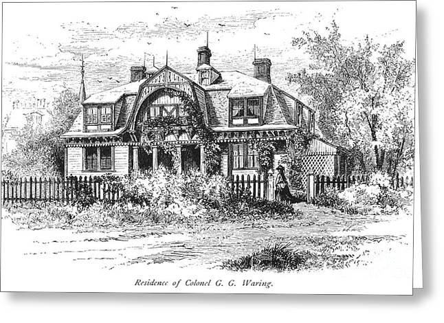 Newport: Villa, C1876 Greeting Card by Granger
