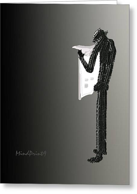 Newspaper Reader Greeting Card