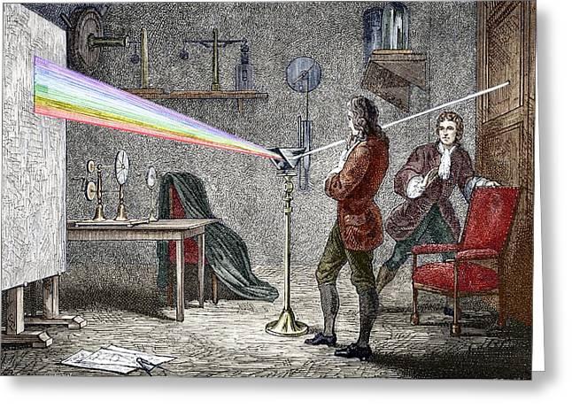 Newton's Optics Greeting Card by Sheila Terry