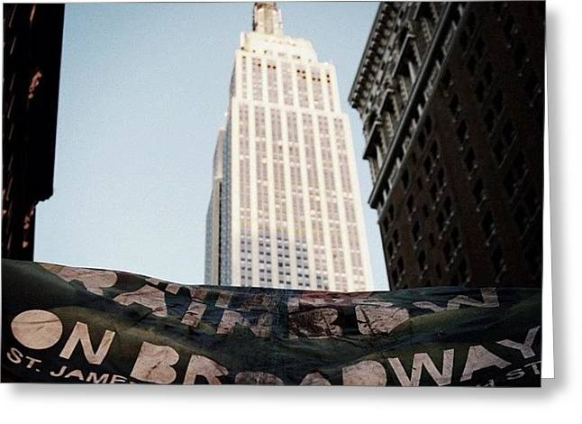 #newyorker #newyork #ny #empirestate Greeting Card
