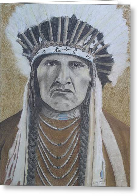Nez Perce American Native Indian Greeting Card by David Hawkes