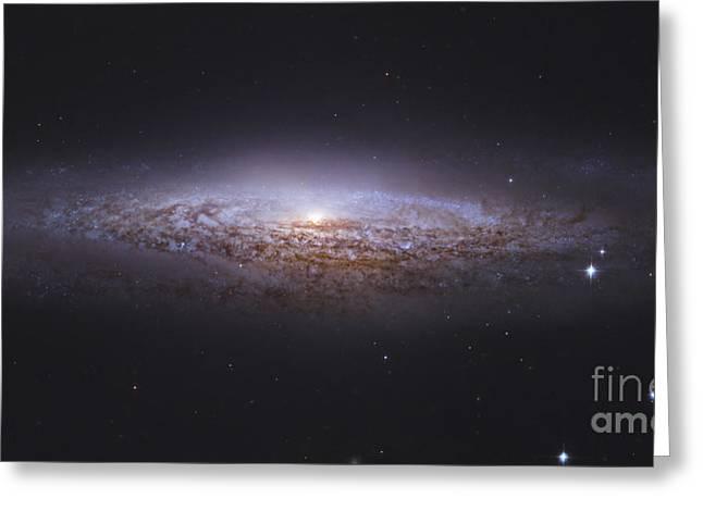 Ngc 2683, Unbarred Spiral Galaxy Greeting Card by Robert Gendler
