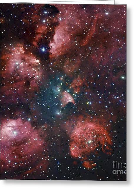Ngc 6334, The Cats Paw Nebula Greeting Card