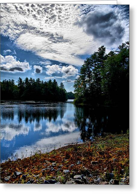 Greeting Card featuring the photograph Nh Lake 2 by Edward Myers
