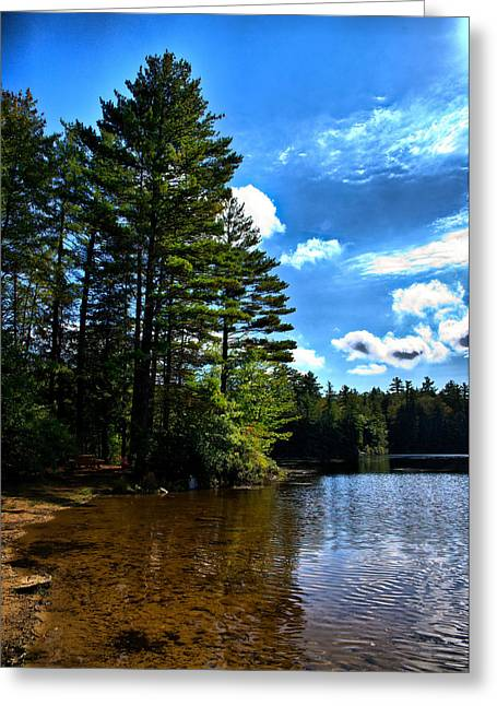 Greeting Card featuring the photograph Nh Lake 3 by Edward Myers