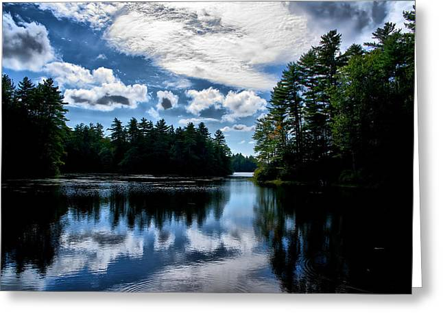 Greeting Card featuring the photograph Nh Lake  by Edward Myers