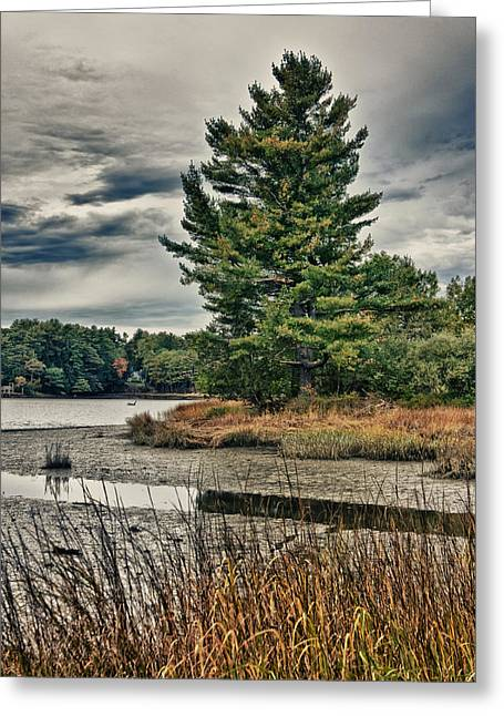 Greeting Card featuring the photograph Nh Waterway 3 by Edward Myers