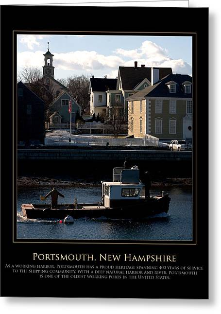 Nh Working Harbor Greeting Card by Jim McDonald Photography