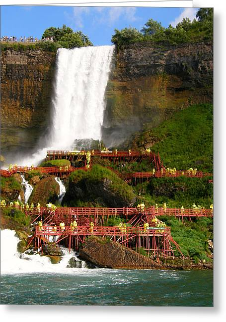 Greeting Card featuring the photograph Niagara Falls Cave Of The Winds by Mark J Seefeldt