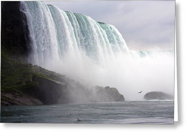 Greeting Card featuring the photograph Niagara Falls by Darleen Stry