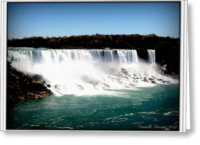 Greeting Card featuring the photograph Niagara Falls The Canadian Side by Danielle  Parent