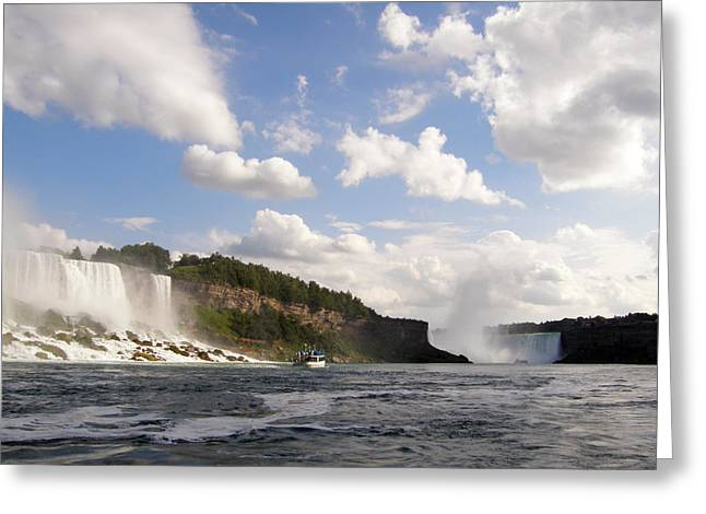 Greeting Card featuring the photograph Niagara Falls View From The Maid Of The Mist by Mark J Seefeldt