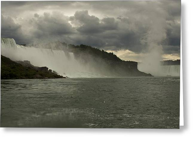 Greeting Card featuring the photograph Niagara Power by Darleen Stry