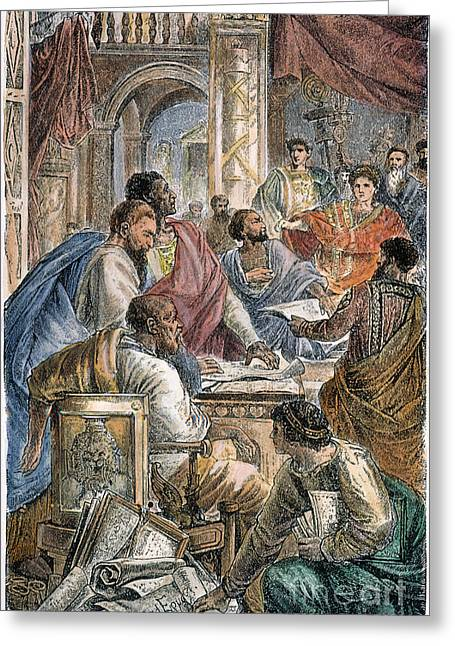 Nicaea Council, 325 A.d Greeting Card by Granger