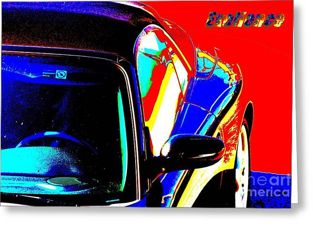 Greeting Card featuring the mixed media Nice Car by Rogerio Mariani
