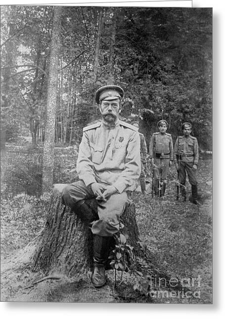 Nicholas II, Last Emperor Of Russia Greeting Card by Photo Researchers