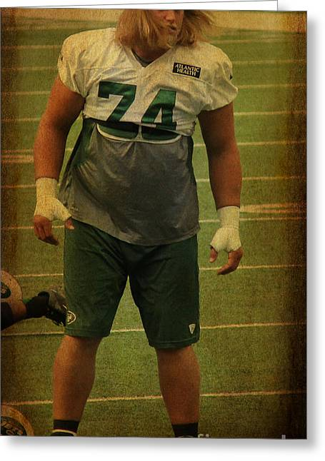 Nick Mangold - The New York Jets Greeting Card by Lee Dos Santos