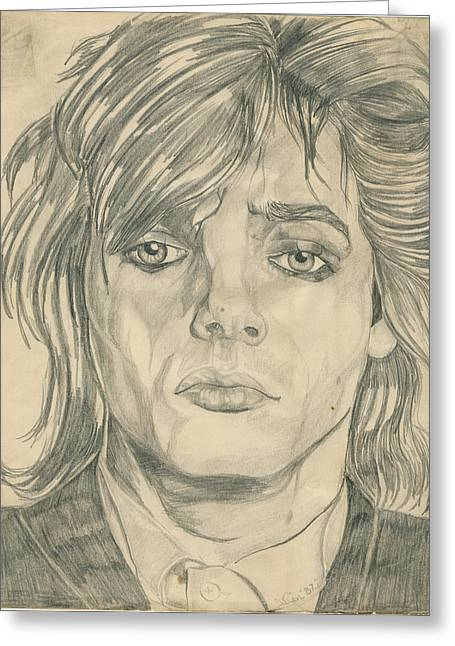 Nick Rhodes Greeting Card by Allen Walters