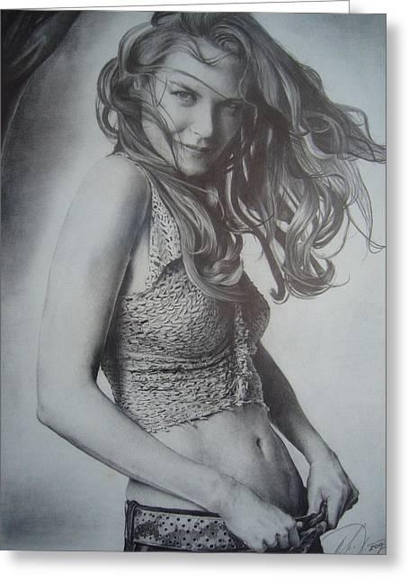 Nicole Greeting Card by Oleg Dashevsky