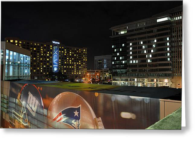 Night Before Super Bowl Xlvi Greeting Card by Brittany H