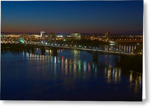 Night Bridges Greeting Card