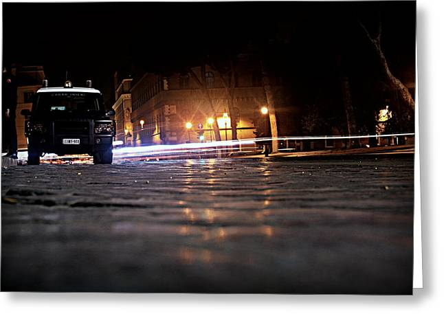 Night Cops Greeting Card by Kevin Flynn