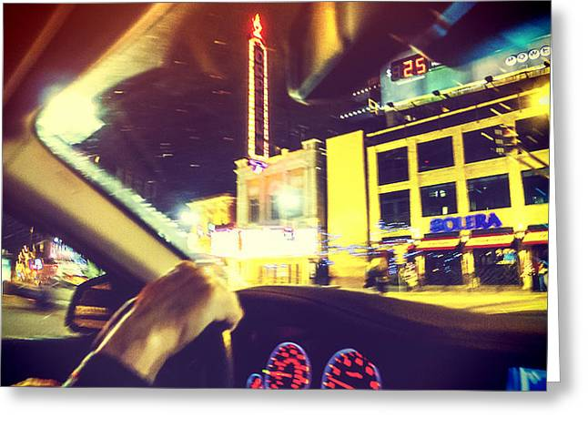 Night Driver Greeting Card by Susan Stone