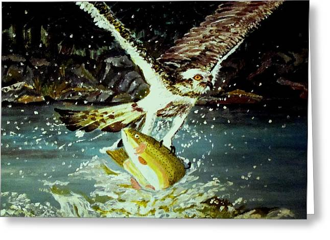 Night Fishing Greeting Card by Yvonne Breen