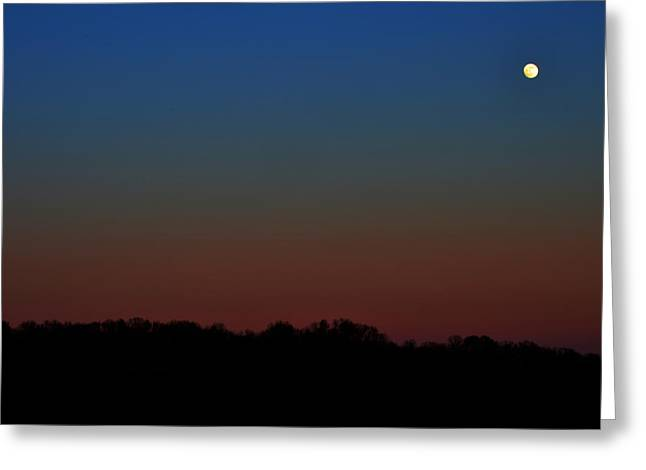 Greeting Card featuring the photograph Night Light by Brian Stevens